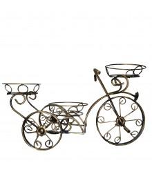 Підставка для квітів великий велосипед на 3 елемента бежевий (Код С-035)
